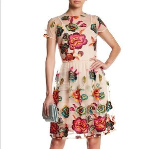 NWT Alexia Admor Floral Embroidered Dress